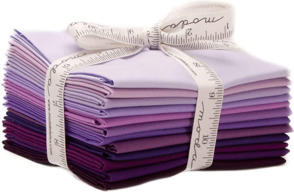 Bella Solids Purples 12 Fat Quarters Moda Fabrics 9900AB 128