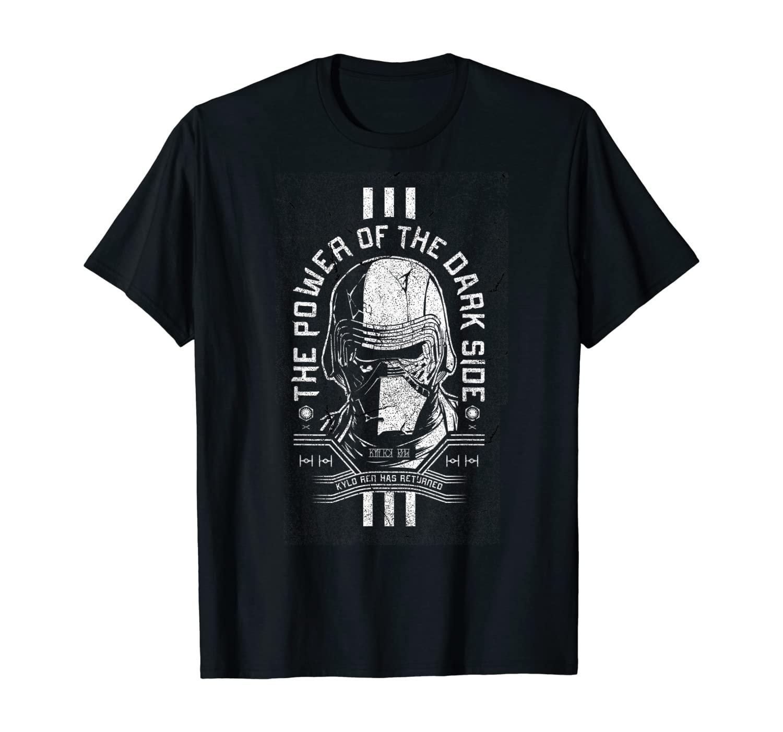 Star Wars The Rise Of Skywalker Dark Side Power Text T-Shirt