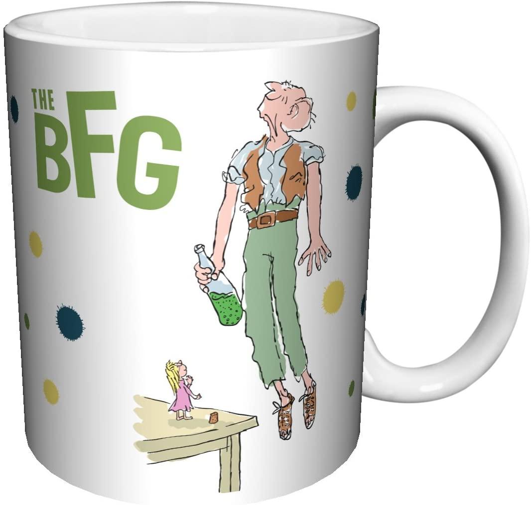 Roald Dahl The BFG MIss Know Everything Childrens Classic Literature Book Ceramic Gift Coffee Tea Cocoa Mug (11 oz C HANDLE CERAMIC MUG)