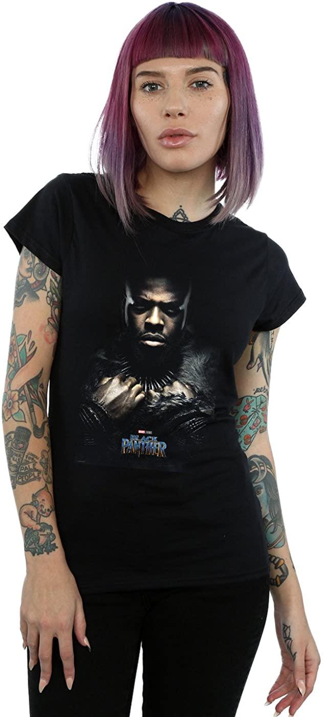 Marvel Women's Black Panther M'Baku Poster T-Shirt Black X-Large