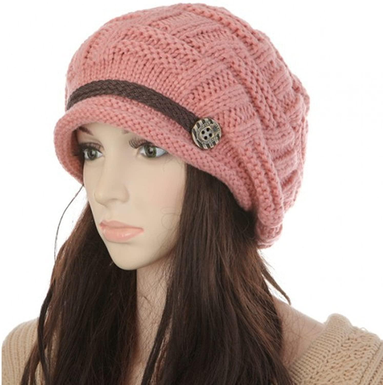 YQWEL Women Knit Snow Hat Winter Snowboarding Beanie Crochet Cap
