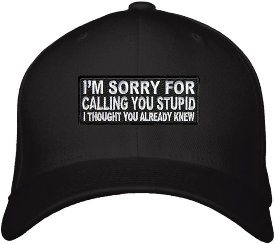Funny Hat - Unisex Adjustable Black - I'm Sorry For Calling You Stupid I Thought You Already Knew