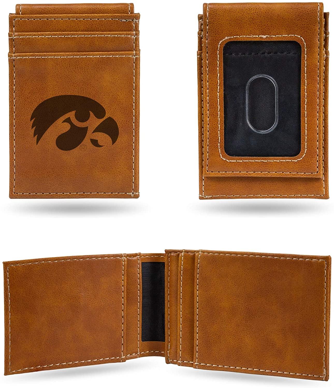 NCAA Rico Industries Laser Engraved Front Pocket Wallet, Iowa Hawkeyes