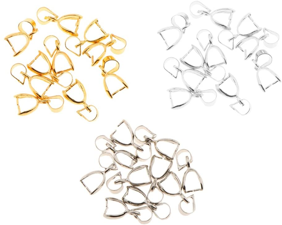 Harilla 30pcs Jewelry Making Findings Buckle Magnetic Clasps