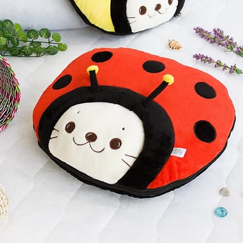 [Sirotan - Ladybug Red] Blanket Pillow Cushion/Travel Pillow Blanket (39.4 by 59.1 inches)