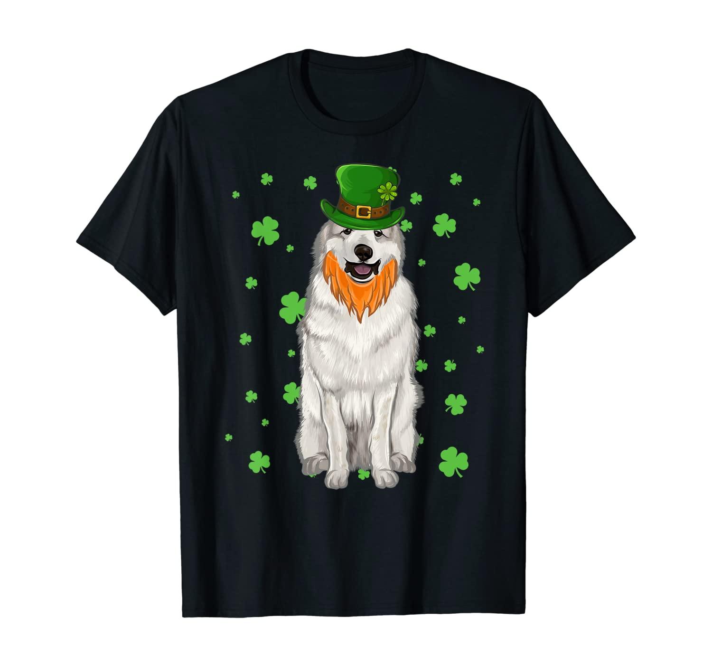 St Patricks Day Great Pyrenee Dog Shamrock Gift T-Shirt