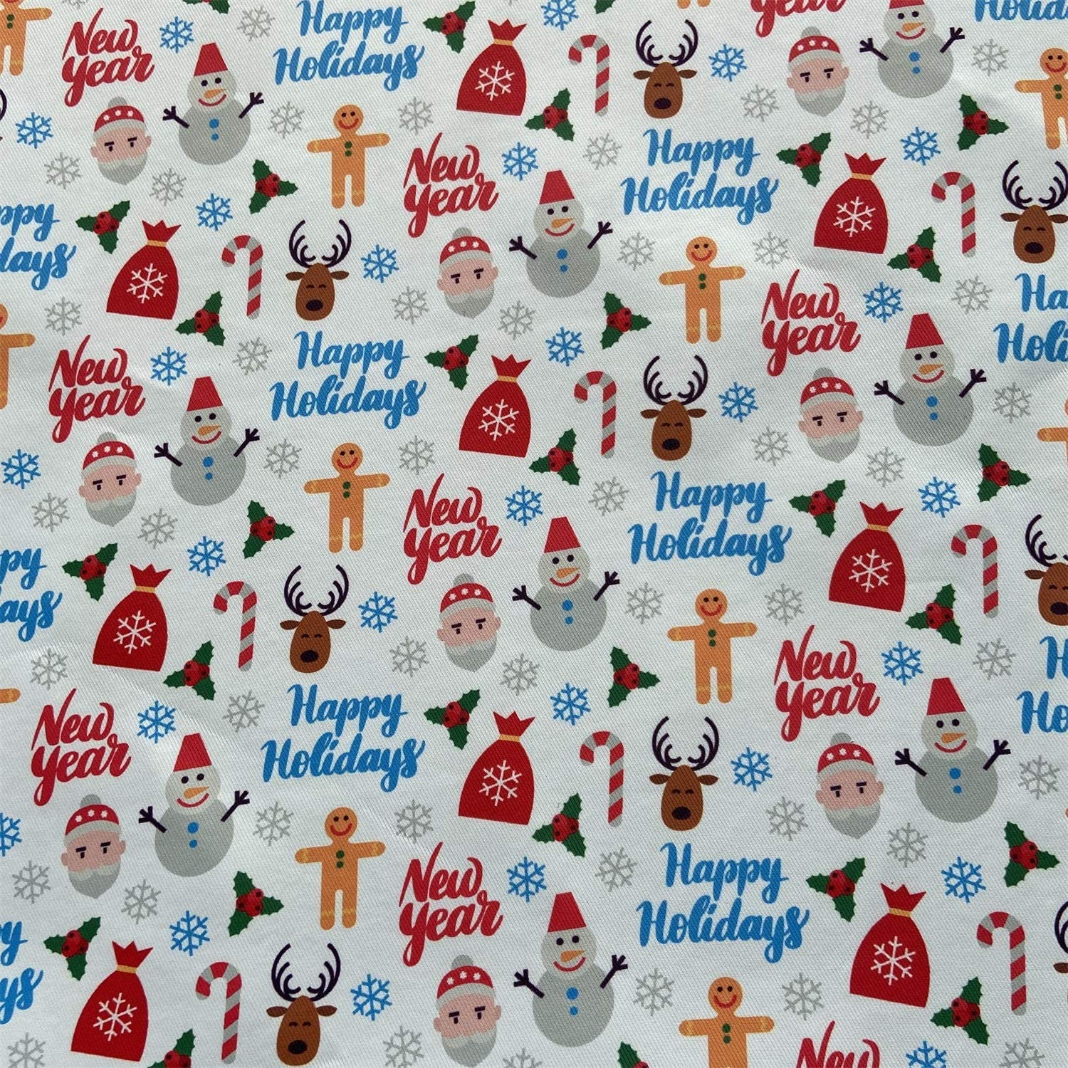 willikiva Printed Waterproof Christmas Fabric by The Yard for Sewing Quilting Fat Quarters Upholstery Indoor Outdoor 36