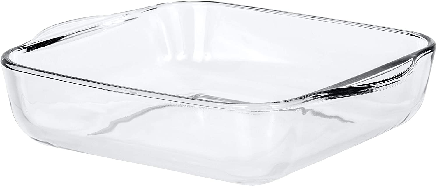 Red Co. Square Clear Glass Casserole Baking Dish, Oven Basics Bakeware — 2 Quart - 8¾