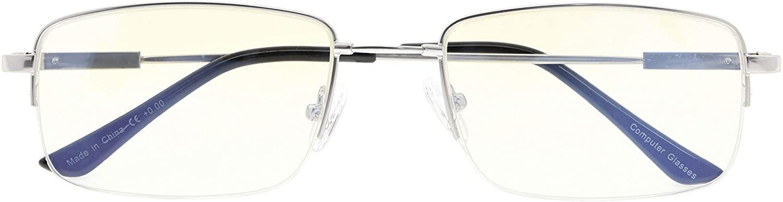 Flexible Blue Light Filtering Glasses Titanium Computer Eyeglasses Men Reading