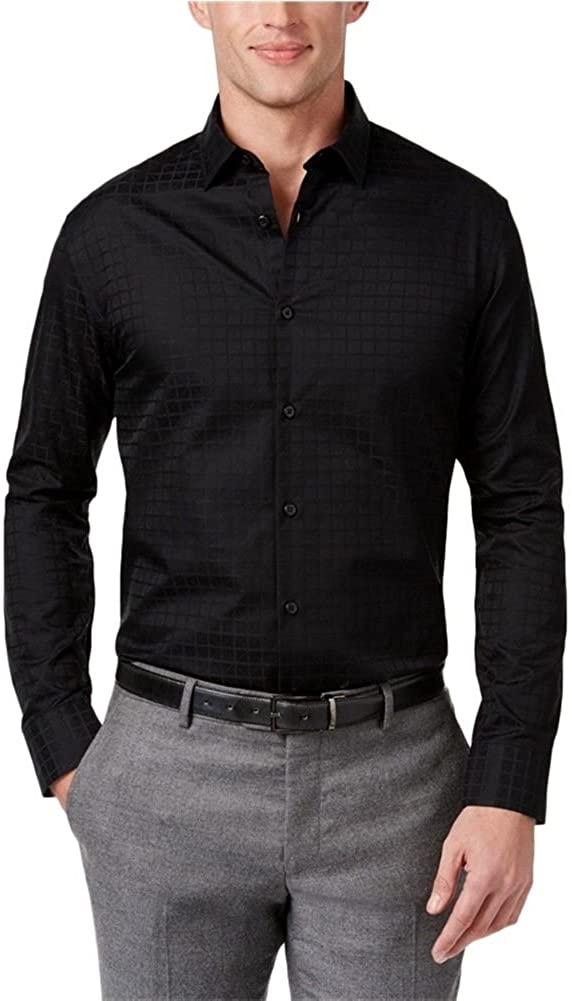 Alfani Mens Garrison Smooth Button Up Shirt