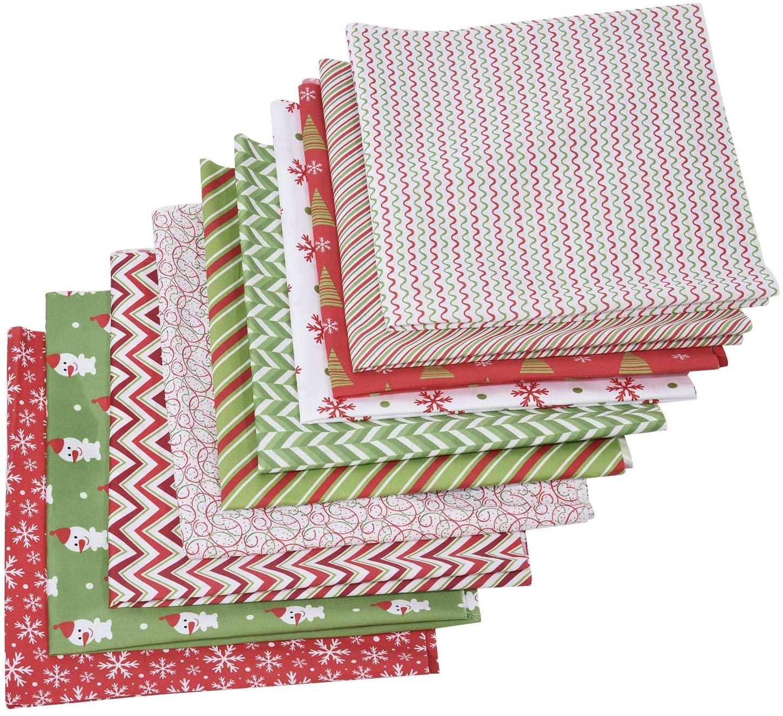 Christmas Cotton Craft Fabric - Christmas Cotton Fabric Bundle Sewing Patchwork Craft Fabric