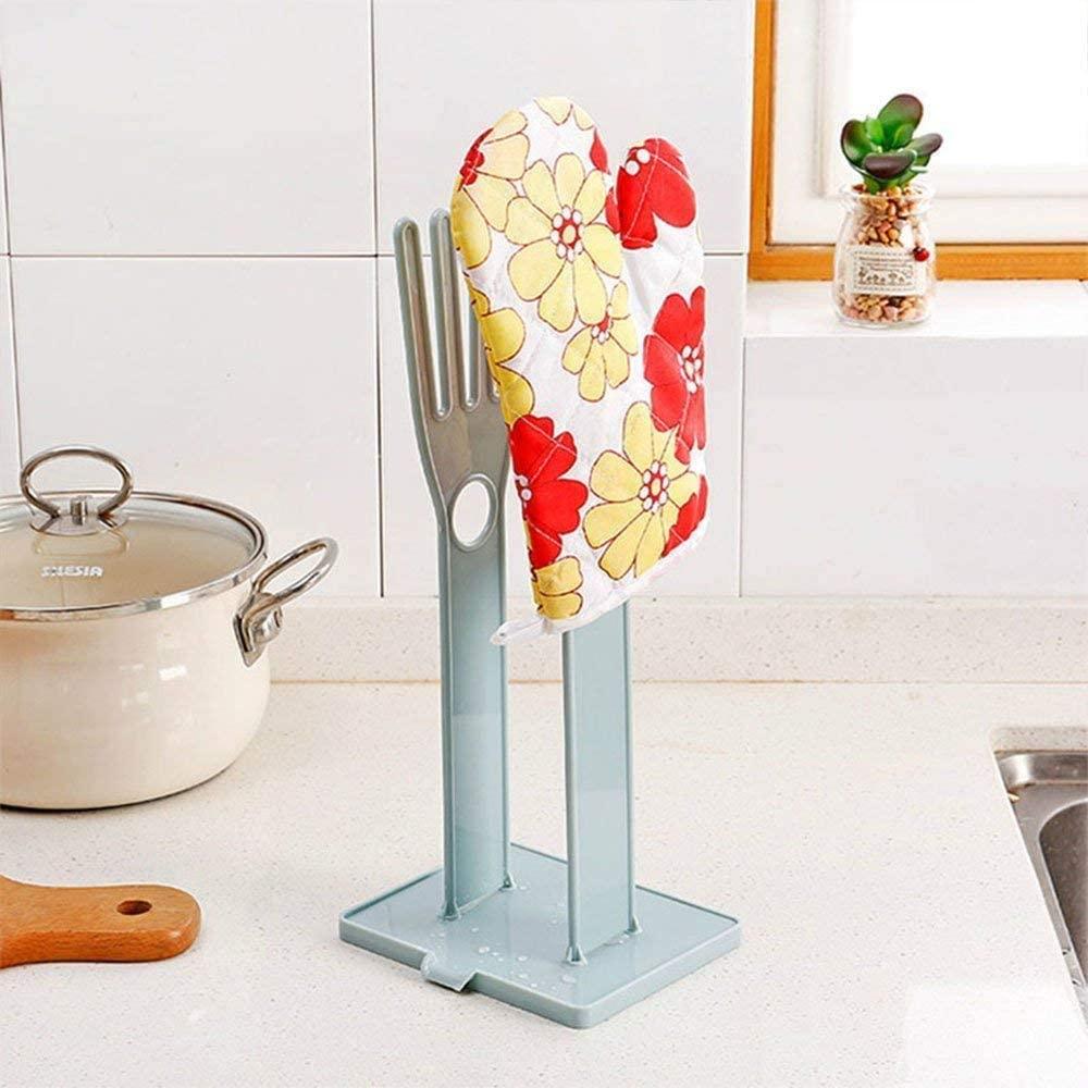 Kitchen Sink Shelf Food Storage accessories holder, Glove Drain Rack Holder Plastic Sink Stand Towel Storage Multi Use Tool, Towel Storage Holders(Blue)
