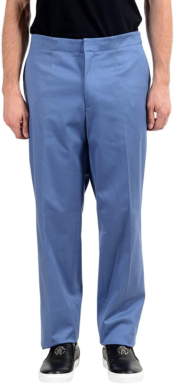 Versace Men's Blue Stretch Dress Pants US 40 IT 56
