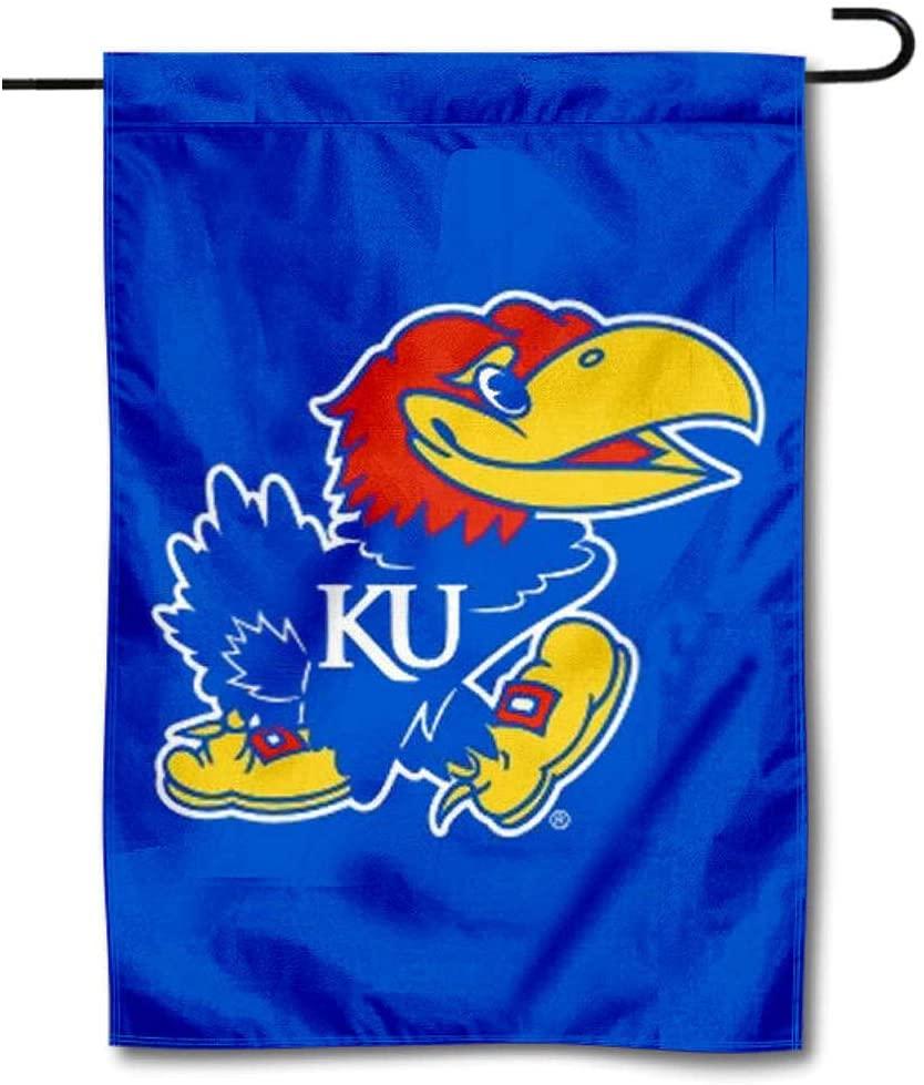 College Flags & Banners Co. Kansas KU Jayhawks Garden Flag