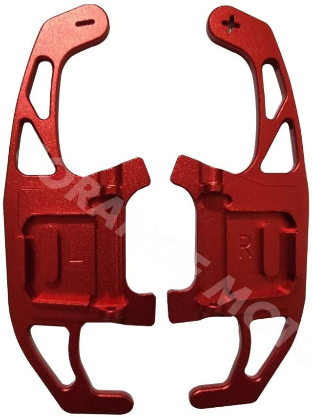 CFUSMOTO 2PCS Car Steering Wheel Metal Paddle Extend Shifter Replacement for VW Golf GTI R GTD GTE MK7 7 Polo GTI Scirocco 2014-2018 (Red)