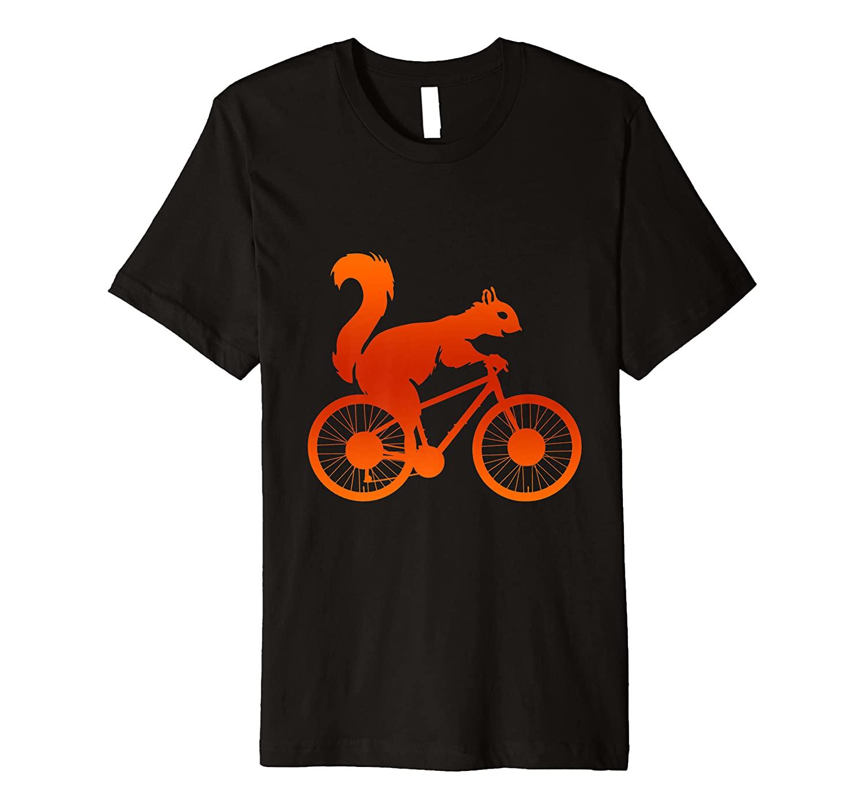 Squirrel Biker Riding Bicycle Bike Animal Squirrel Premium T-Shirt