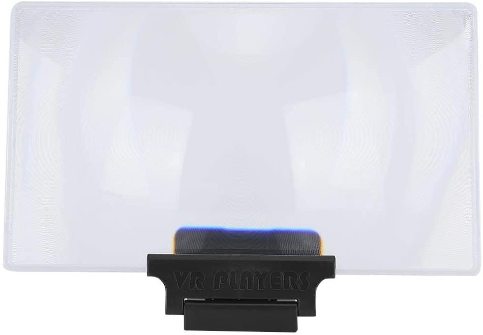 Acrylic Lens Screen Magnifier, 3D Visual Enjoyment Black Video Amplifier, Lightweight for Travel Mobile Phone Leisure