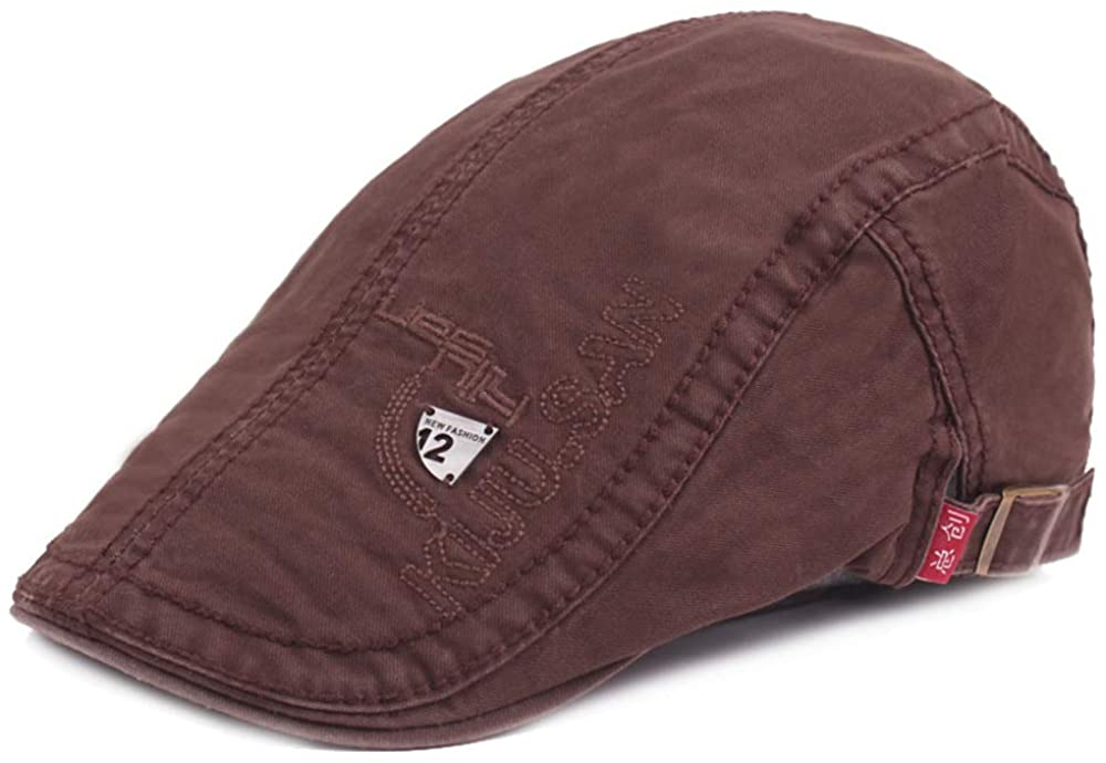 (N/A) 2020 New Men capOutdoors Casual hat Flat Driving Cabbie Comfortable Boys Cotton Style Mens