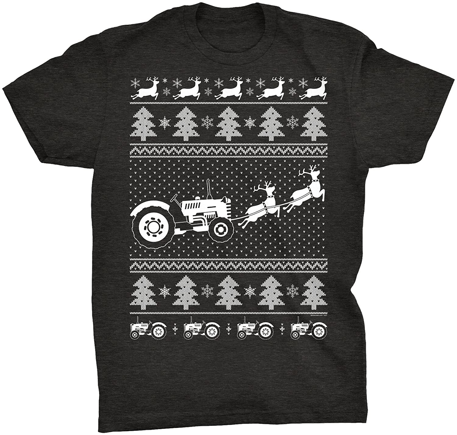 ShirtInvaders Farmers Fight - Rancher Tractor ChristmasSweater - T-Shirt