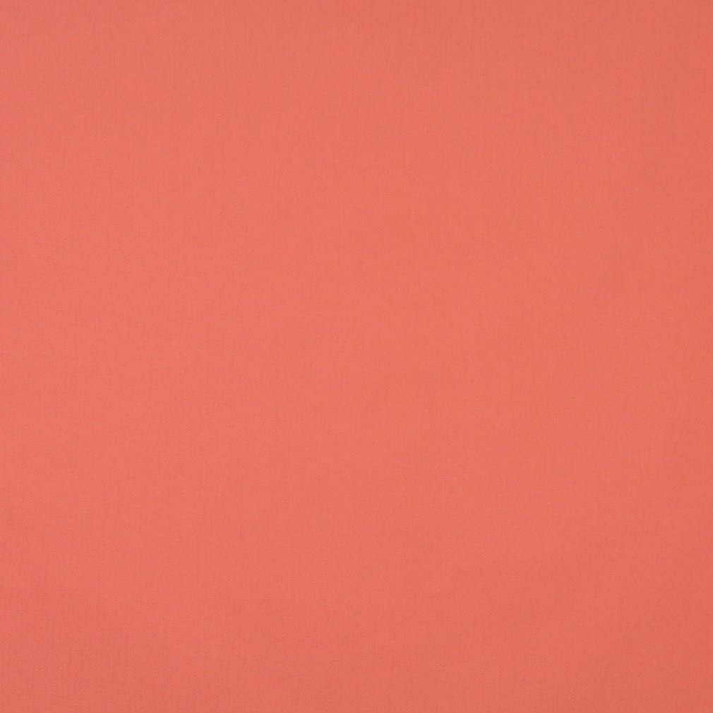 J461 Coral Orange Solid Cotton Canvas Duck Preshrunk Upholstery Fabric by The Yard