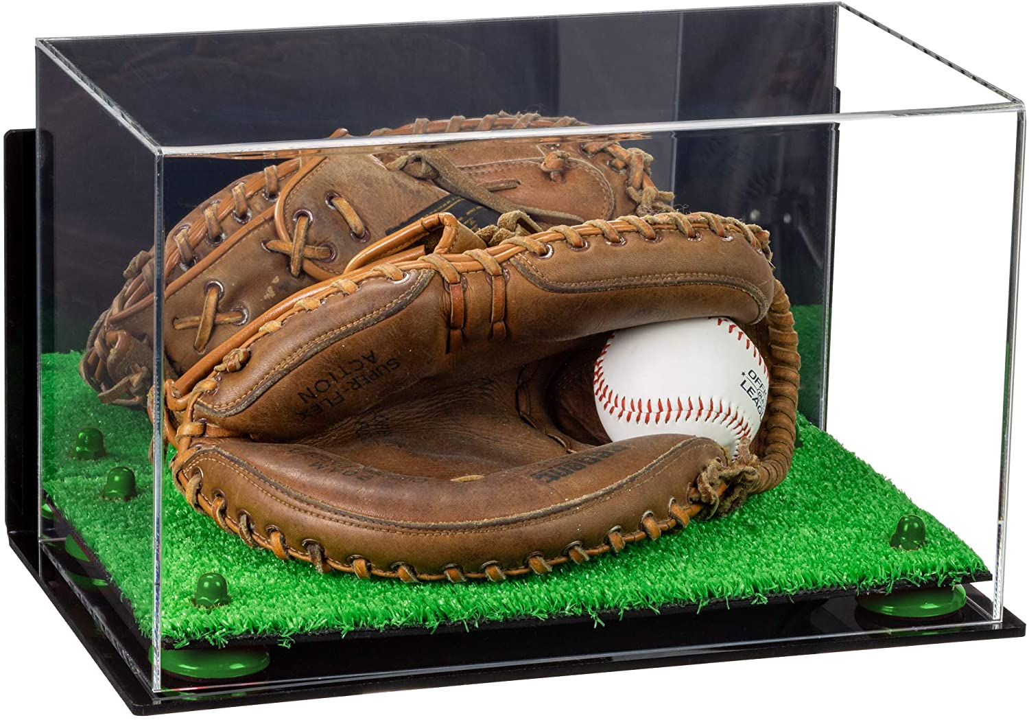 Better Display Cases Acrylic Full Size Baseball Catchers Glove Display Case
