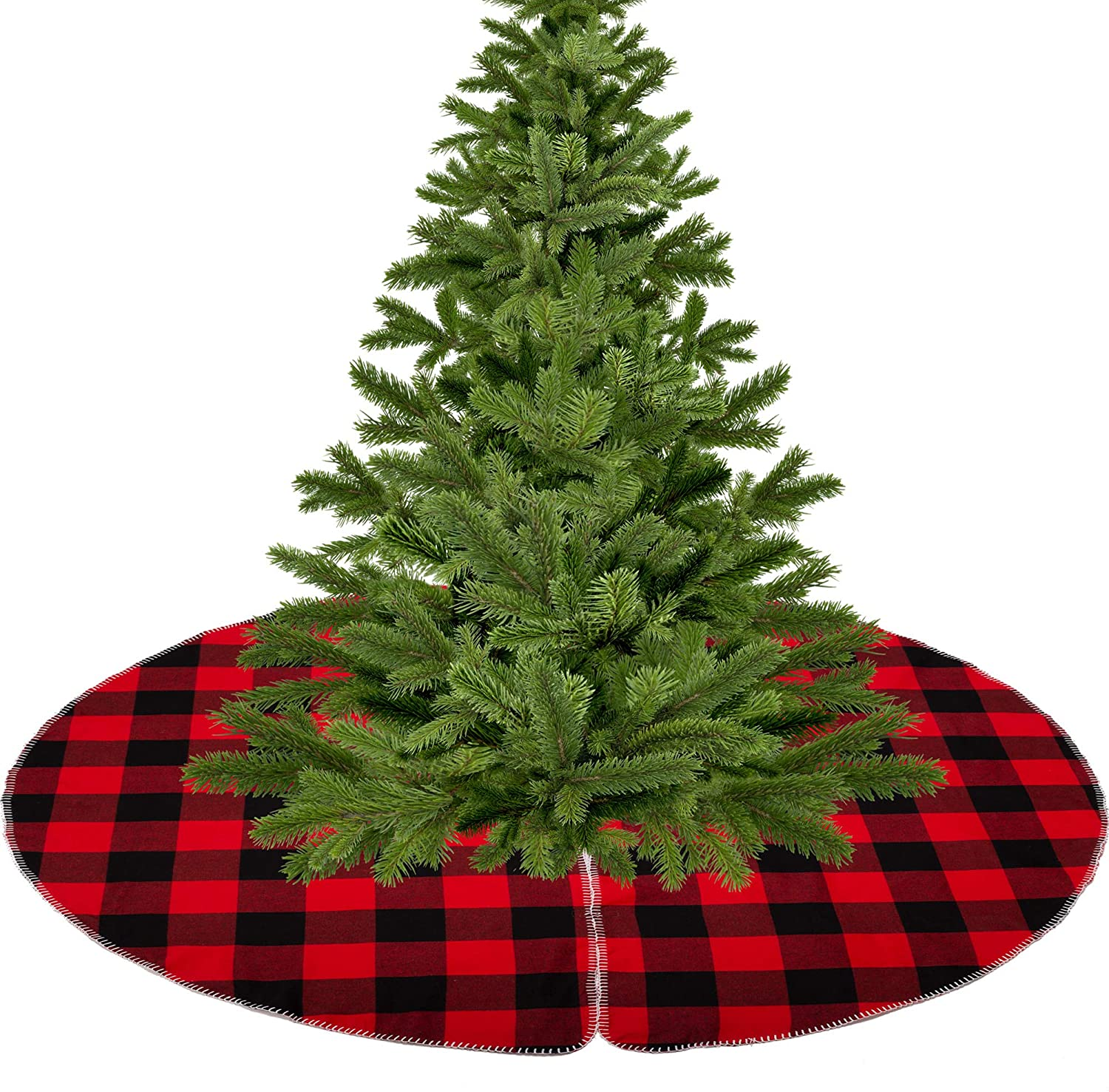 VGIA 48 inch Christmas Tree Skirt with Snowflake Decoration Christmas Tree Skirt for Christmas Tree for Holiday and Party…