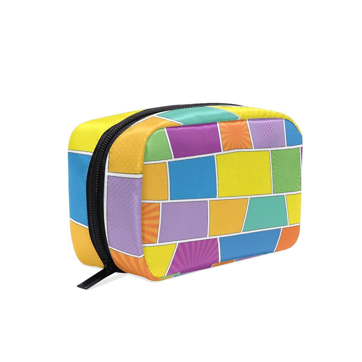 OREZI Toiletry Bag for women Girl Comic Book Cosmetic Bag Portable Travel Makeup Bag Organizer