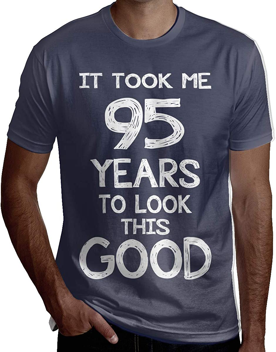 Eden Edies Took Me 95 Years to Look This Good Funny 95Th Birthday Mens T Shirt Short Sleeve Crewneck Tee