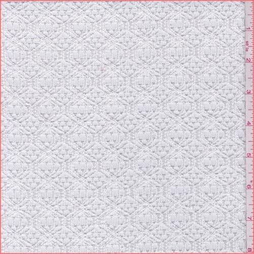White Lattice Crochet Lace, Fabric by The Yard