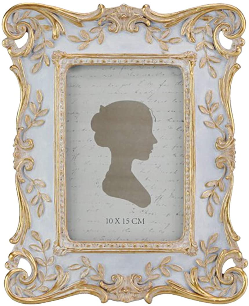 AELS 4x6 Inch Vintage Picture Frame, Elegant Antique Photo Frames with Glass Front, Tabletop Photo Display, Gift Ideas, Leaf Vines