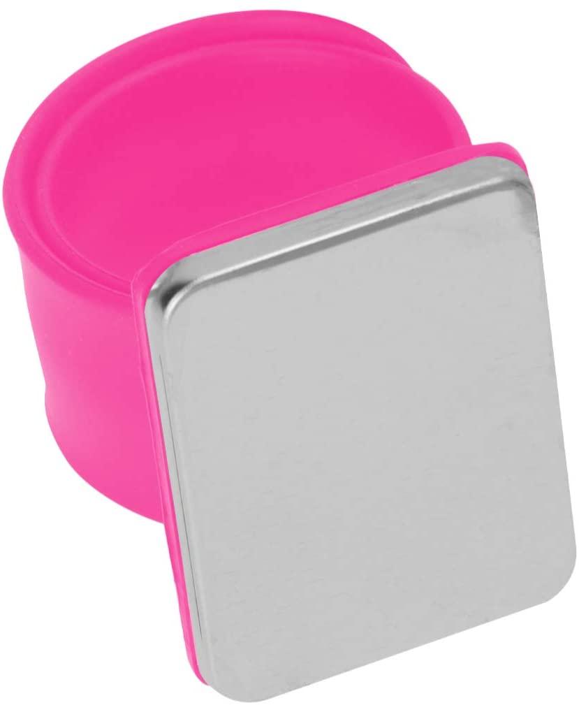 ARTIBETTER Magnetic Sewing Pincushion Slap Bracelet Magnetic Wristband Pin Cushion Holder for Quilting Sewing Pins Magnetic Bracelet for Hair Clips (Rosy)
