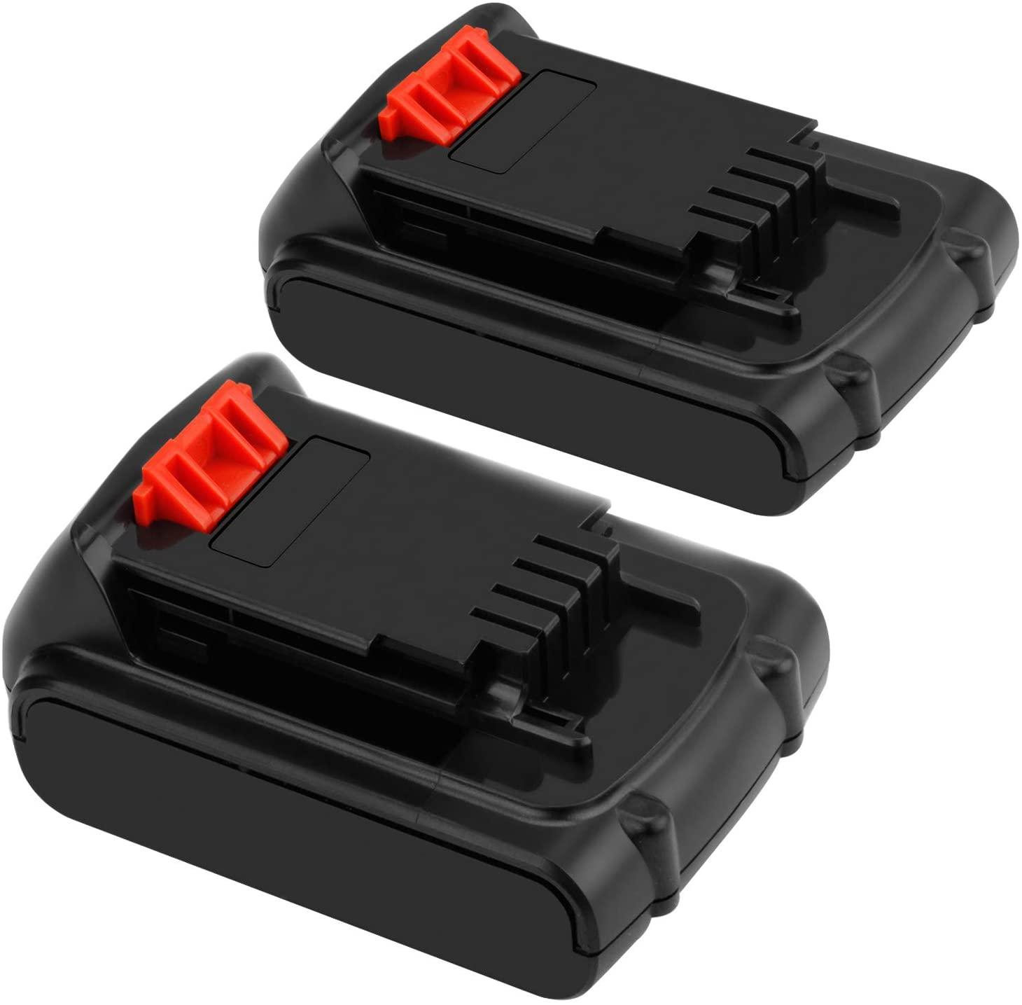 Creabest 20v 2500mAh Lithium-Ion for Black & Decker lbxr20 battery LBXR LBXR20 LBX20 LB20 LBXR2020-OPE LBXR20B-2 LB2X4020-2 LBX4020 LDX120 LSW20 LHT2220 LST220 LLP120