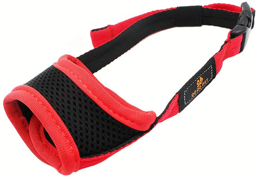 YIEN Dog Muzzle with Soft Mesh Design Adjustable Strap Breathable Dog Mouth Cover Anti Biting Barking Chewing for Small Medium Large Dogs