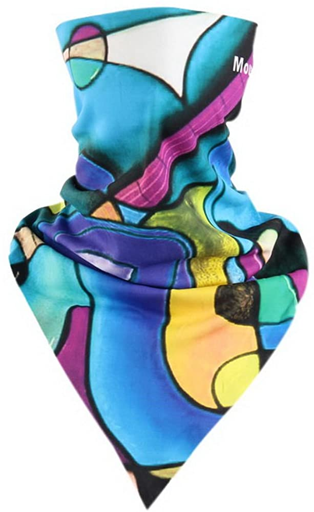 Gentle Meow Riding Scarf Magic Triangular Scarf Cycling Accessory Mask Art Radius Mixed Blue