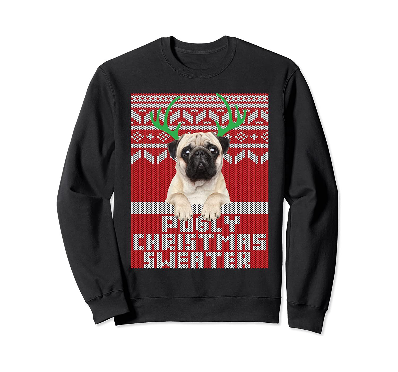 Ugly Christmas Pattern Cute Pug Pugly Christmas Sweater Gift Sweatshirt