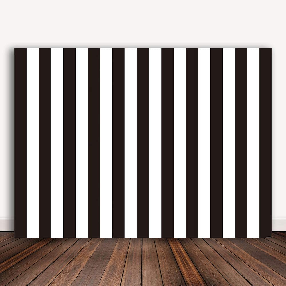 Bellimas Black and White Stripe Backdrop for Photography Birthday Party Baby Shower Bridal Shower Kids Portrait Black Striped Background Decorations