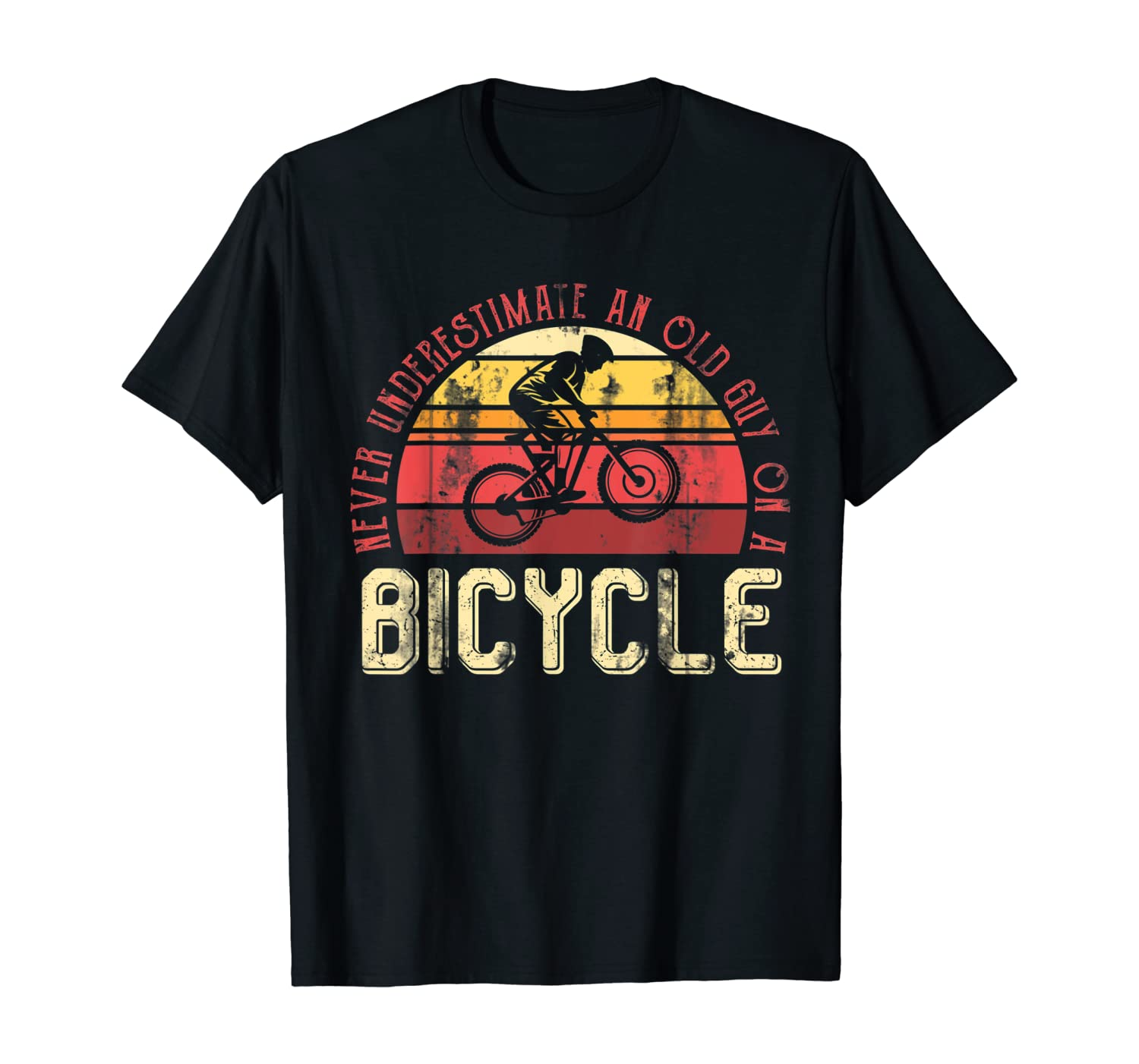 Retired Men Cycling Mountain Bike Biking BMX Bicycle T-Shirt