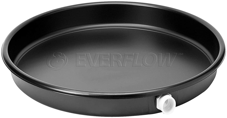 Everflow PWHP22 Plastic Water Heater Drain Pan with 1 in. - 1-1/2 in. PVC fitting, 22 in. Diameter