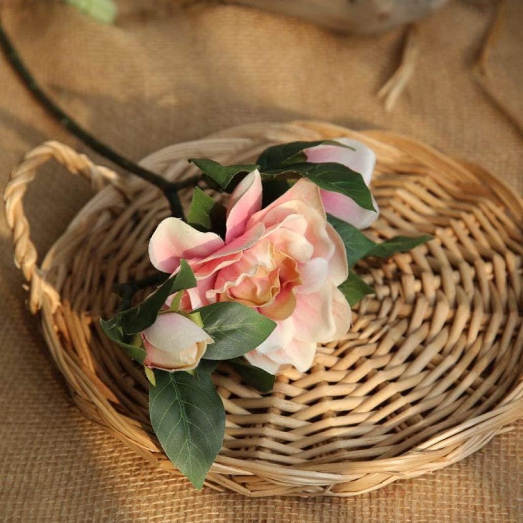 SUTECO 10 Pcs Artificial Gardenia Bouquets Long Stems Fake Flowers Silk Cloth for Wedding Garden Home Decoration
