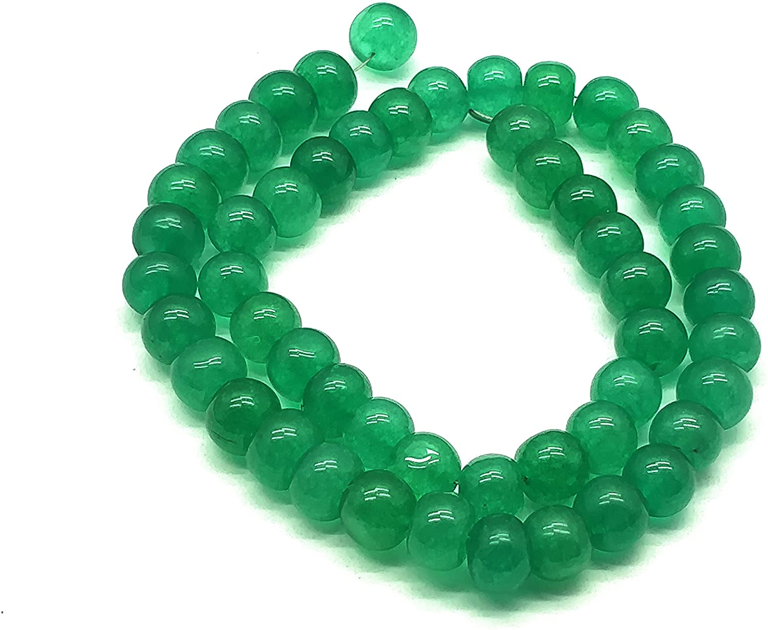1 Strand Natural Green Onyx Size 8mm Beads Shape Rondelle Cut Smooth Length 13.5 Inch code-PC476