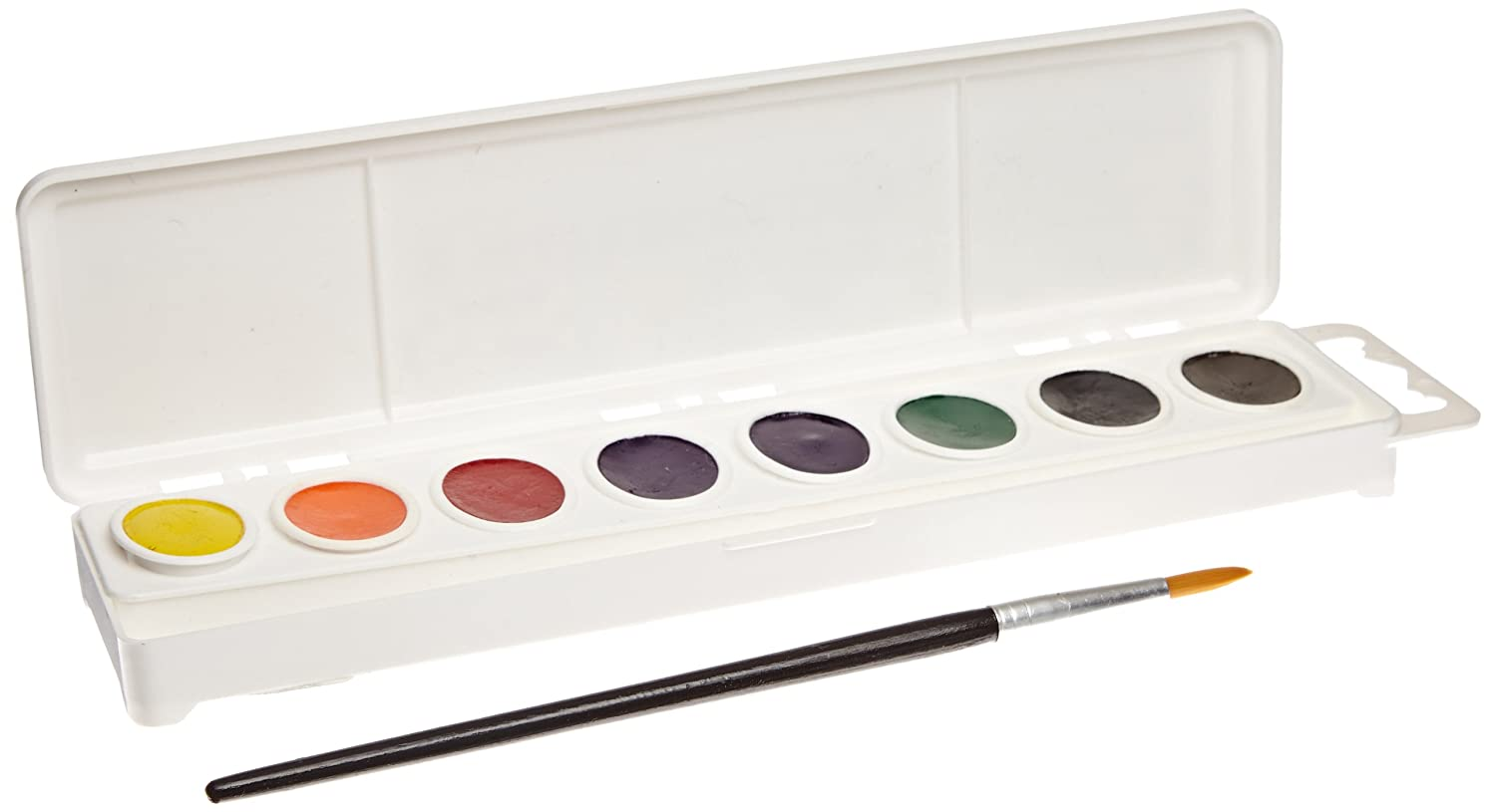 Sax True Flow 8 Color Oval Pan Watercolor Paint Set with Brush - Assorted Colors