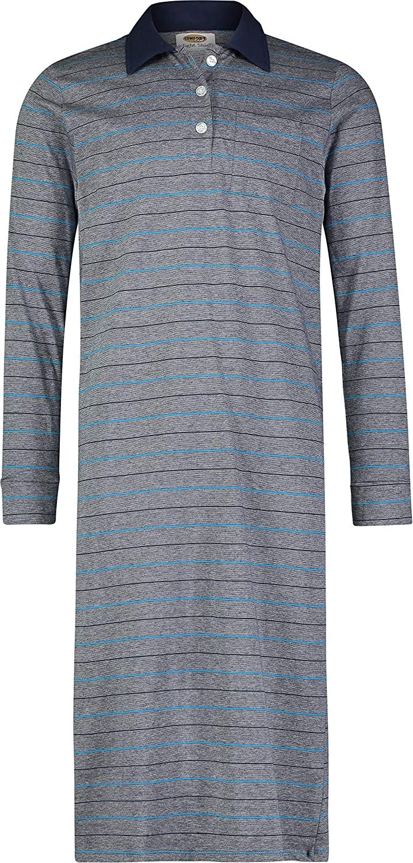 Comfort Knit Sleepwear Mens 100% Cotton Knit Nightshirt Sleep Shirt