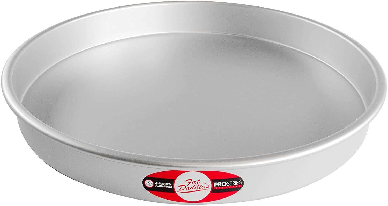 Fat Daddio's Round Cake Pan, 16 x 2 Inch, Silver
