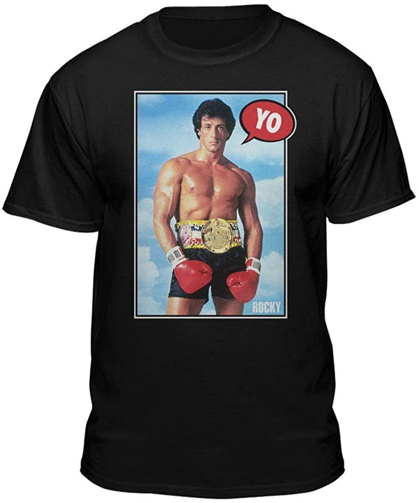 Teelocity Rocky Balboa Yo Graphic T-Shirt