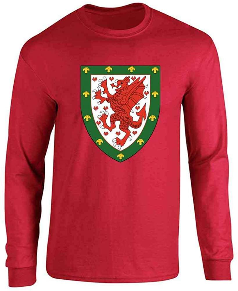 Wales Soccer National Team Football Crest Full Long Sleeve Tee T-Shirt