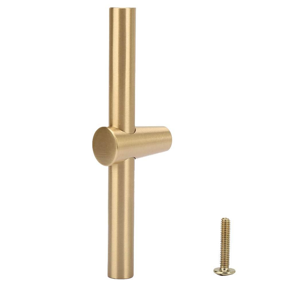 Metal Door Handle -Brass Cabinet Handle Brushed Kitchen Cupboard T Bar Pull Handle Wardrobe Door Knob