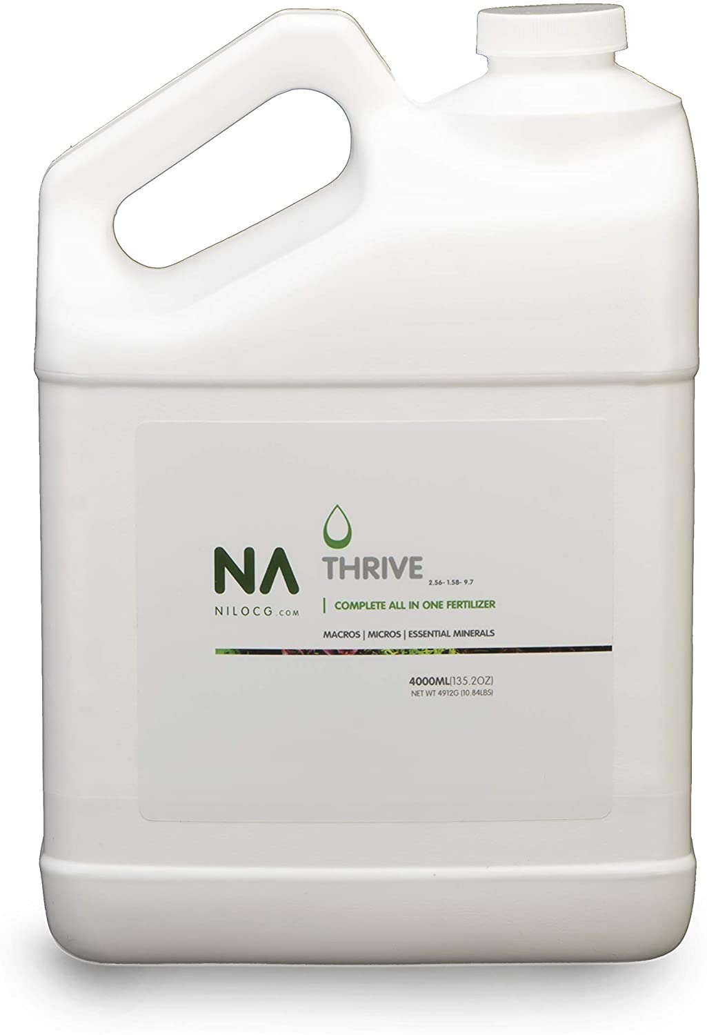 Thrive Planted Aquarium Fertilizer 4000ml Refill Jug-All in One Planted Tank Liquid Fertilizers - Micro & Macro Nutrient Rich Food for Aquatic Plants - Highly Concentrated for 20000 Gallons of Water
