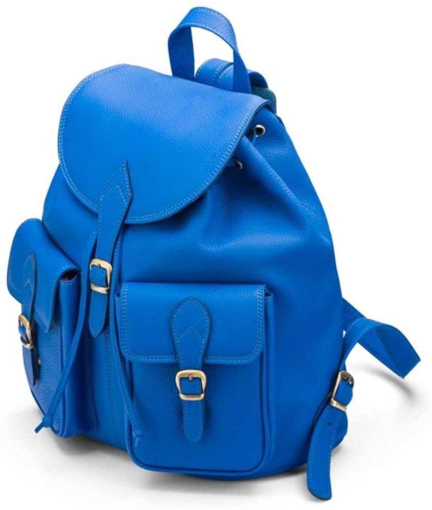 SAGEBROWN London Premium Leather Womens Medium Leather Fashion Backpack, Ladies Rucksack