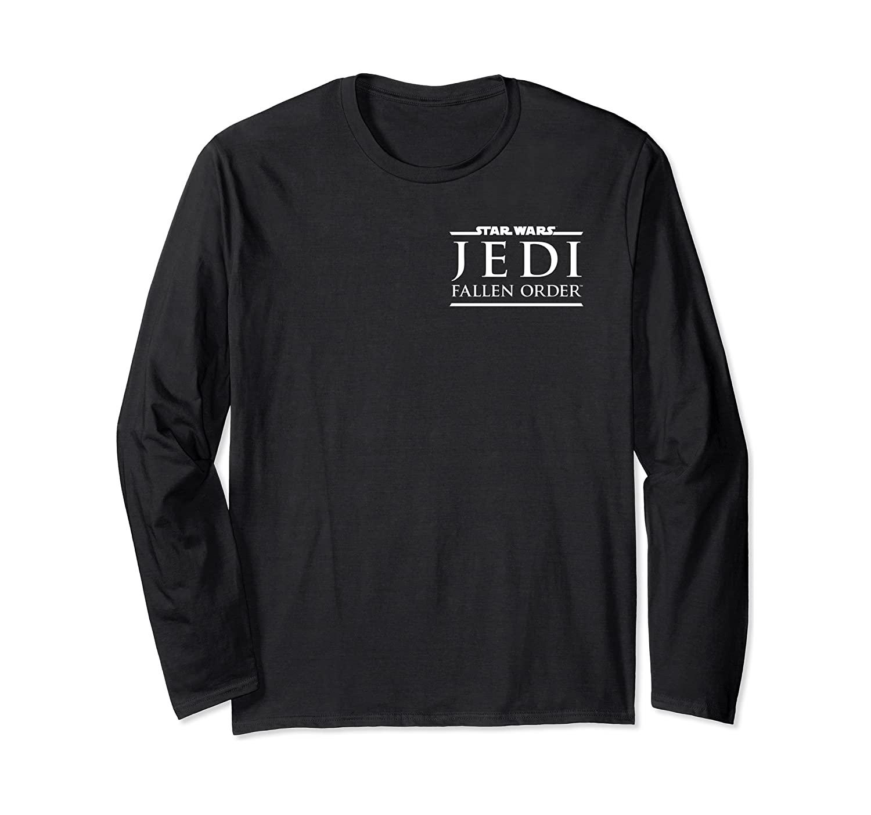 Star Wars Jedi The Fallen Order Left Chest Game Logo C1 Long Sleeve T-Shirt