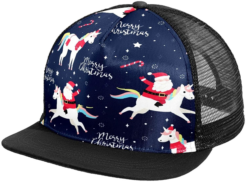 Snapback Caps for Men Flat Bill Hats Trucker Plain Black Funny Christmas Unicorn Santa Custom Hip Hop Baseball Caps Bulk Athletic Fitted Hat Snapback Flat Brim 59Fifty Cap Blank Mesh Back